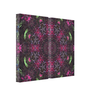 Floral Kaleidoscope Canvass Print Gallery Wrapped Canvas