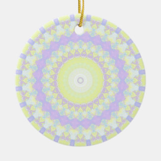 Floral Kaleidoscope Round Ceramic Decoration