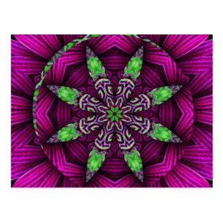 Floral Kaleidoscopic Mandala Design Postcard