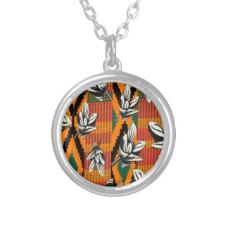 floral Kente Personalized Necklace