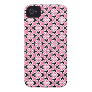 Floral kimono print, pink, black and white Case-Mate iPhone 4 case