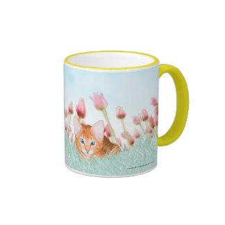 Floral Kitten Coffee Mug