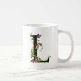 Floral L Basic White Mug