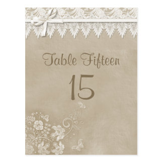 Floral Lace Butterfly Wedding Postcard