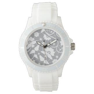 Floral Lace Pattern Watch