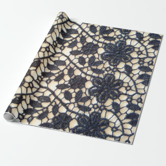 Floral lace wrapping paper