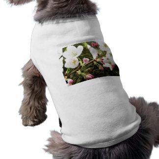 Floral Ladies Sleeveless Dog Shirt