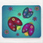Floral Ladybugs Mousepad