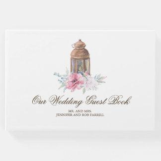 Floral Lantern Wedding Guest Book