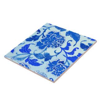 """floral, Large (6"""" X 6"""") Ceramic Tile"""