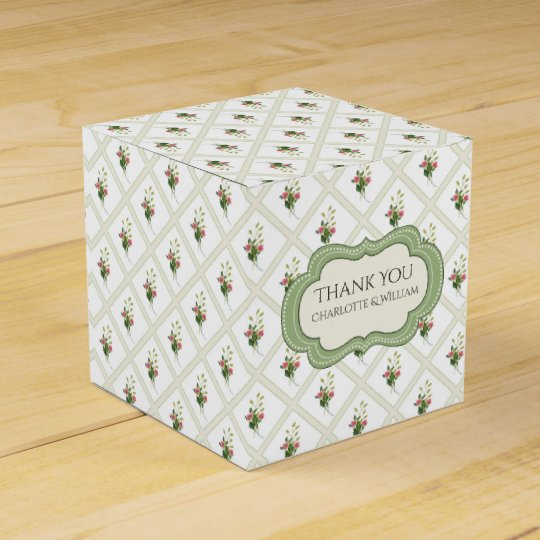 Floral Lattice Custom Favour Gift Box