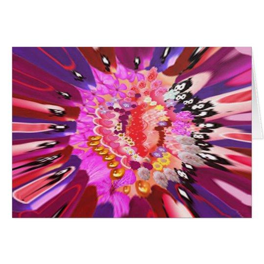 Floral Laughter Burst Card