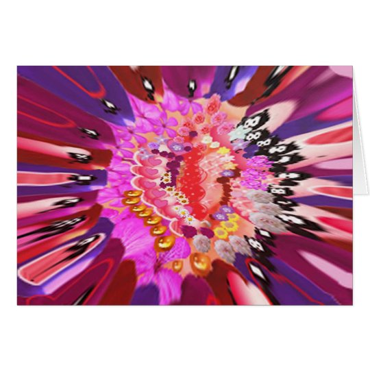 Floral Laughter Burst Greeting Card