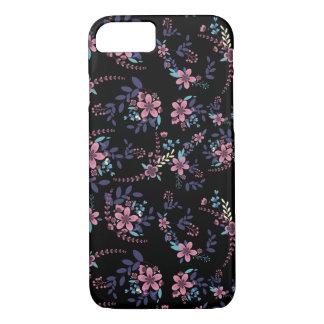 Floral layer with dark fund iPhone 8/7 case