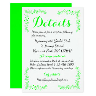 Lime Green Wedding Invitations Announcements Zazzle Co Uk