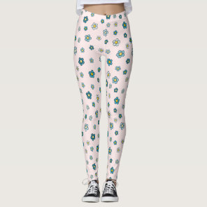 Floral Leggings - Pink