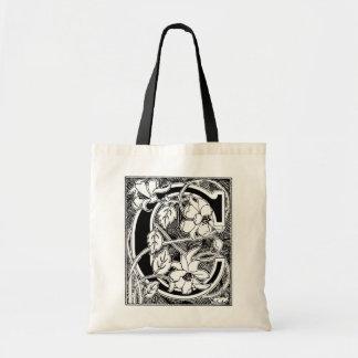 Floral Letter 'C' - Tote Bag