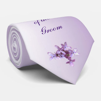 Floral Lilac Flowers Wedding Grandfather of Groom Tie