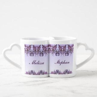 Floral Lilac Flowers Wedding Lovers Mugs Lovers Mug