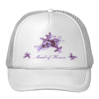 Floral Lilac Flowers Wedding Maid of Honor Cap