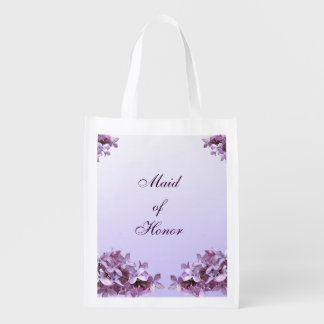 Floral Lilac Flowers Wedding Maid of Honor