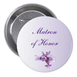 Floral Lilac Flowers Wedding Matron of Honor Pin