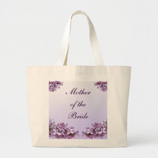Floral Lilac Flowers Wedding Mother of the Bride Large Tote Bag