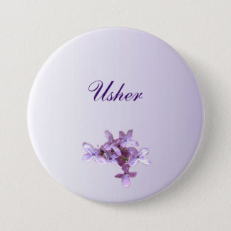 Floral Lilac Flowers Wedding Usher Pin