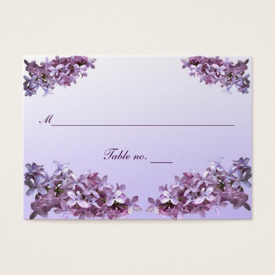 Floral Lilac Wedding Escort Card