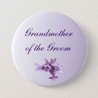 Floral Lilac Wedding Grandmother of the Groom Pin