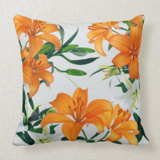 Floral Lilies Throw Pillow