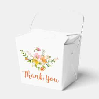 Floral Lily Flowers - Pink, Orange Yellow  Wedding Wedding Favour Box