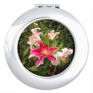 Floral Lily Picture Makeup Mirrors