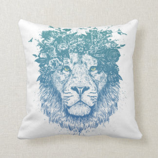 Floral lion cushion