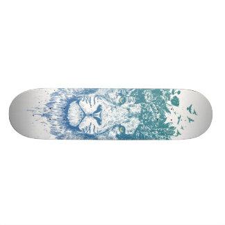 Floral lion skateboard
