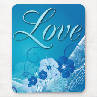 FLORAL LOVE GREETING MOUSE PAD