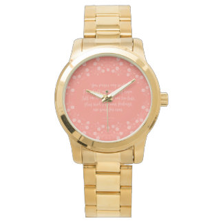 Floral Love Letter Quote Persuasion Jane Austen Wrist Watches