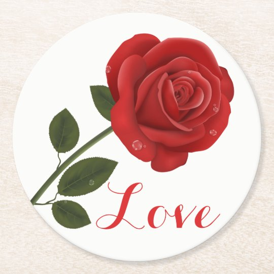 Floral Love Red Rose Flower - Wedding Party