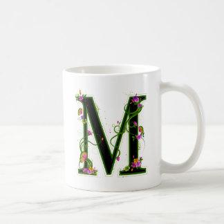 Floral M Coffee Mug