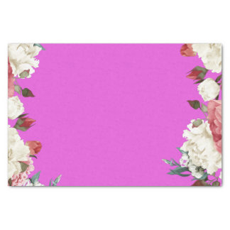 floral magenta 10lb Tissue Wrapping Paper