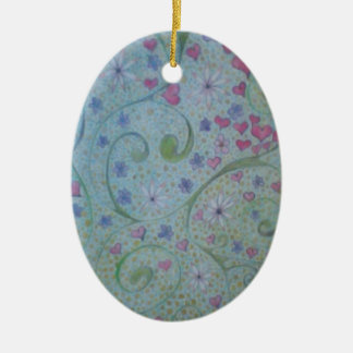 floral magic of love and creation sketch christmas ornament