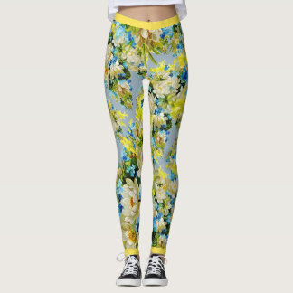 Floral Magnolia Leggings