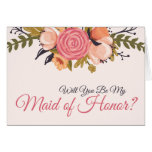 Floral Maid of Honour Request Card