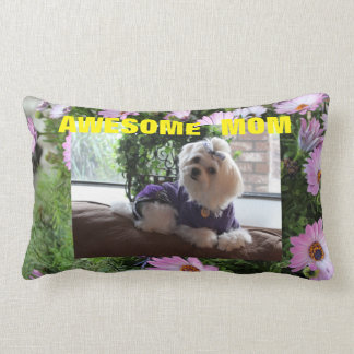 Floral Maltese Gifts Lumbar Cushion