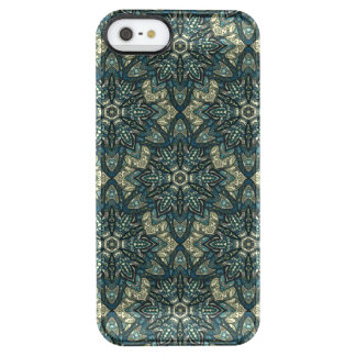Floral mandala abstract pattern design clear iPhone SE/5/5s case