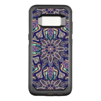 Floral mandala abstract pattern design OtterBox commuter samsung galaxy s8 case