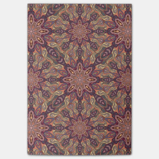 Floral mandala abstract pattern design post-it notes