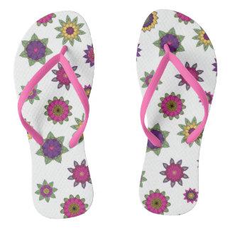 Floral Mandala Flip Flops