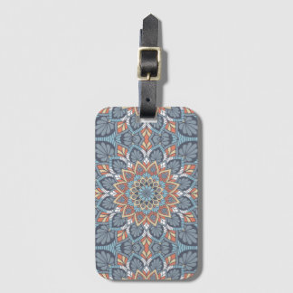Floral Mandala Luggage Tag