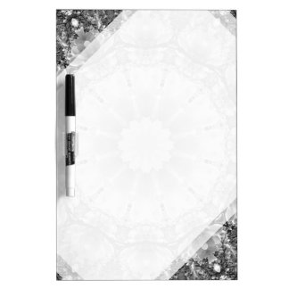 Floral mandala-style, Blossoms black, white, gray Dry-Erase Boards